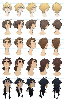 Head turn arounds for my webcomic.